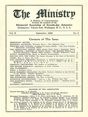 September 1929 cover image