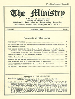 August 1930 cover image