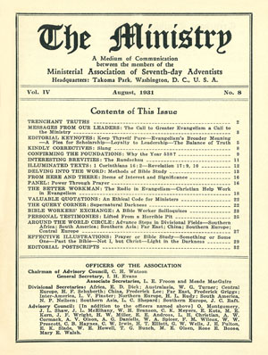 August 1931 cover image