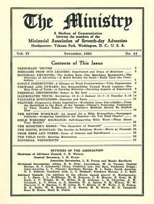 November 1931 cover image