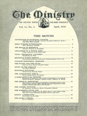 April 1939 cover image