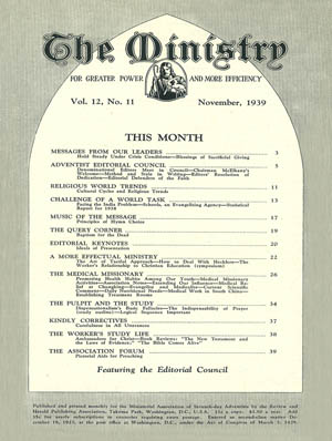 November 1939 cover image