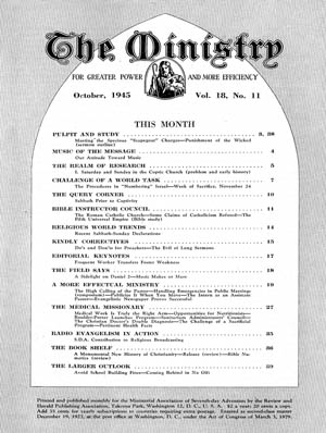 October 1945 cover image